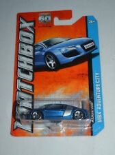 2013 MATCHBOX MBX ADVENTURE CITY AUDI R8 BLUE 63/120