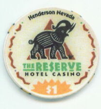 $1 The Reserve Casino Chip Elephant Obsolete