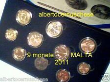 2011 MALTA 9 monete EURO FDC UFFICIALE BU Malte 8 monete + 2 euro commemorativo