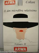 COLLANT CALZA DONNA MICROFIBRA VELATO ARWA VELOURS T.4 COL.016 MOKA 11 DENARI