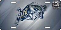 U.S. Navy Ram Navy Pride Aluminum License Plate Gradient | Blue & Gold Football