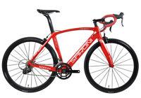 49cm AERO Carbon Bike Frame Road Bicycle Wheels Clincher 700C V brake Red glossy