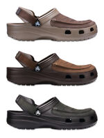 Crocs Mens Yukon Vista Leather Top Croslite Slip Ons Clogs