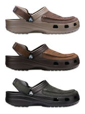 Crocs Mens Yukon Vista Leather Top Croslite Slip Ons Clogs Sandals