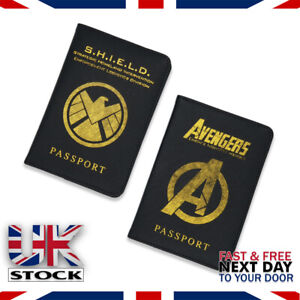 Travel Passport Holder Wallet case cover Marvel Avengers Agents Of Sheild (U.K)