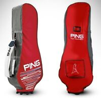 PING Travel Cover Red/Gray Nylon PVC Pouch Sporting Goods Golf Club Bag_amga