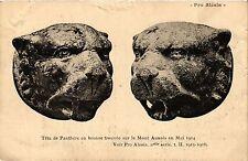 CPA   Téte de Panthére en bronze trouvée, sur le Mont Auxois en Mai 1914(354221)