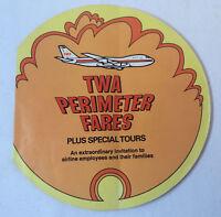 1970 TWA PERIMETER FARES diecut 32 page industry booklet