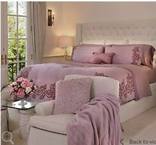 Casa Zeta-Jones Vintage Lace Printed Cotton Queen Comforter Set Ashes Of Rose