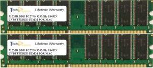 1GB (2 X 512MB) PC2700 333MHz 184PIN  APPLE POWERMAC G4 MEMORY RAM