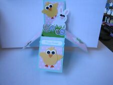 Happy Easter Sping Chick Bunny Egg Pop Up Box Birthday Handmade Card Kit Lot(4)