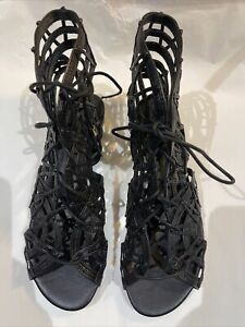 Joie Sandals Renee Black Leather Flats Sandals New In Box
