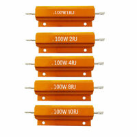 100W 1/2/4/8/10 Ohm Watt Shell Power Aluminum Housed Case Wirewound Resistor 1PC