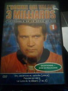 DVD L'HOMME QUI VALAIT 3 MILLIARDS (SERIE 3 ÉPISODES STEVE AUSTIN LEE MAJORS)