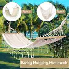 Portable Travel Camping Hammock Hanging Home Garden Bedroom Bed Lazy Swing