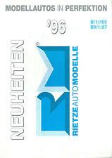 Catalogue RIETZE IGRA 1996 modellautos HO 1/87 N 1/160 modélisme