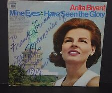 Anita Bryant signed autograph LP Mine Eyes Have Seen The Glory autographed