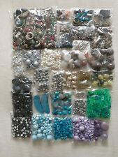 Job Lot Mix Of Beads Bead Cups Spacers Pendants 1.34kg Assortment of Materials