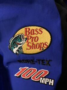 BASS PRO SHOPS NAVY 100MPH GORE-TEX RAIN BIBS MEN'S SIZE M - FREE SHIPPING