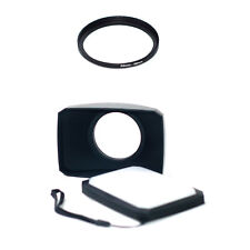 55-58mm Ring + 58mm 16:9 Wide Angle Lens Hood for Sony FDR-AX40 FDR-AX53 AX55