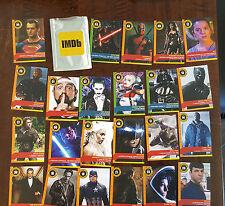 2016 Sdcc Exclusive Imdb Promo Card Near Set 23/30 & Wrapper Star Wars Trek