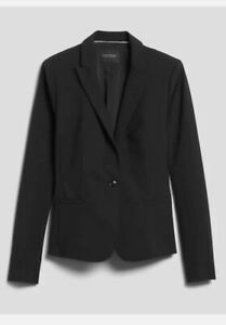 Banana Republic Womens Classic-Fit Washable Italian Blazer Size 10 #267508
