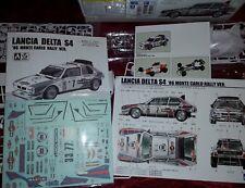 Kit 1/24 LANCIA DELTA A SCELTA: S4/FINA WRC SANREMO/MARTINI EVO 3
