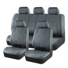 Universal Car Seat Covers Gray Leather Waterproof fit for VW Toyota Ford Honda