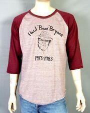 vtg 80s soft thin Raglan Sleeve Paul Bear Bryant T-Shirt Alabama Crimson Tide XL
