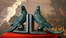 Classy Bookends Exotic Parrots Ara Dark Green 8 5/16in x 19 11/16in - 3.3lbs New
