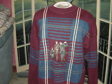 Heavy Golf Sweaterw/Sewn In Grapics~Large~By:Gant~100 %Cotton~New>>>> ;>Lqqk>>>>& gt;