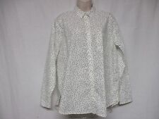 MADEWELL Women's Button Down Long sleeve White Polka Dot Shirt Size M   St1D