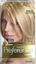 LOreal Paris Superior Preference Hair Dye Color # 10NB Ultra Natural Blonde NEW