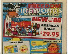 """1988 Vintage Sales Sheet: """"FREEDOM FIREWORKS"""""""