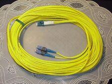 21 Meter LC-SC Fiber Optic Cable Duplex Single Mode NEW!