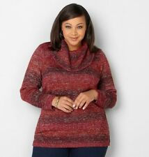 AVENUE Marled Knit Cowl Neck Sweater, Size 14/16 (1X) NEW $60