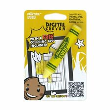 Yellow Crayon Kids'  Stylus for Tablets & Smartphones Coloring App Included