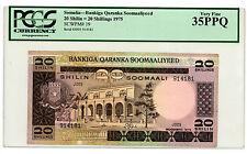 Somalia … P-19 … 20 Shillings … 1975 … *VF-XF*  PCGS 35. PPQ.
