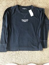 NWT Mens Small SM S  Abercrombie Long Sleeve Shirt New Navy