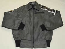 Vintage 80s Hondaline Goldwing Jacket Mens Size Large Early Warning Army Green