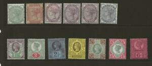GB Useful MINT Collection of 13 QV stamps to 6d - Fresh Faces
