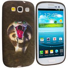 Kobra Snake Brown TPU Design Soft Case Skin Cover for Samsung Galaxy S3 S III