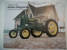 John Deere 1938 Awh Tractor Green Magazine February 1992