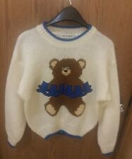 Vintage Novelty Sweater Teddy Bear Size M New with Tags Long Sleeve Doubloons