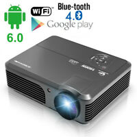 HD1080p LED Heimkino Beamer Android Blue-tooth WIFI Projeckor HDMI Filme Airplay