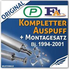 Komplette Auspuffanlage ab KAT Montagesatz VW Polo 6N 1.0-1.6 Auspuff