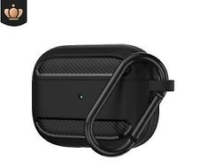Dirt-proof Carbon Fibre Apple Airpod Case Key Tpu Cover Skin For Airpods 1 2 Pro