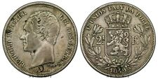 Rare 2 1/2 franc 1849 Léopold Premier Belgique - Argent