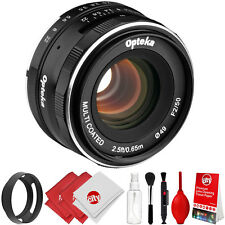 Opteka 50mm f/2.0 Lens + Kit for Olympus OM-D E-M10 E-M5 E-M1 PEN PL7 PL6 PL5 P5