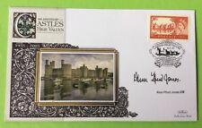 22.3.05 Welsh Castles, £1 Caernarfon , Sig. FFRED JONES, Welsh Assembly Member.